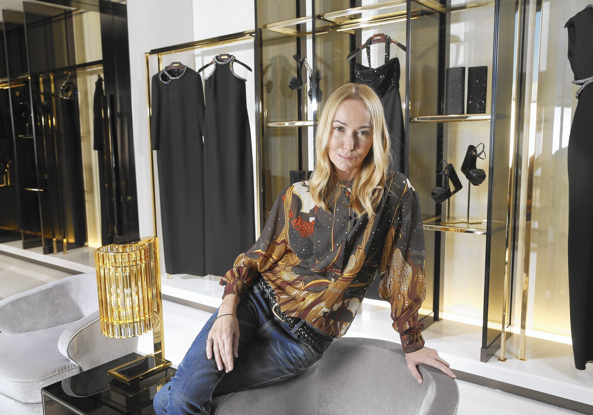 Frida Giannini, Gucci's creative director, visits the company's revamped store on Rodeo Drive